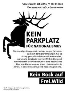 Kein Parkplatz für Nationalismus - Kein Bock auf Frei.Wild Aufruf