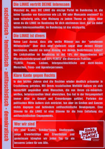 Wahlempfehlung zur Bundestagswahl 2021 Back
